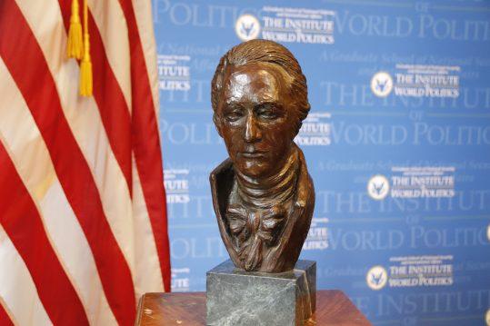 Bust of Alexander Hamilton by created by Karen Laub-Novak