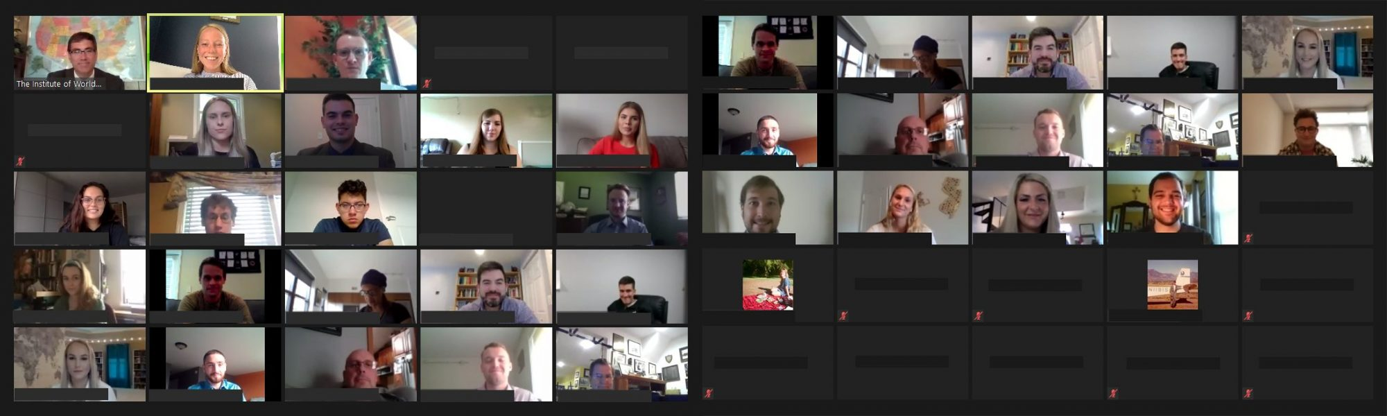 Students at Virtual Orientation, August 2020