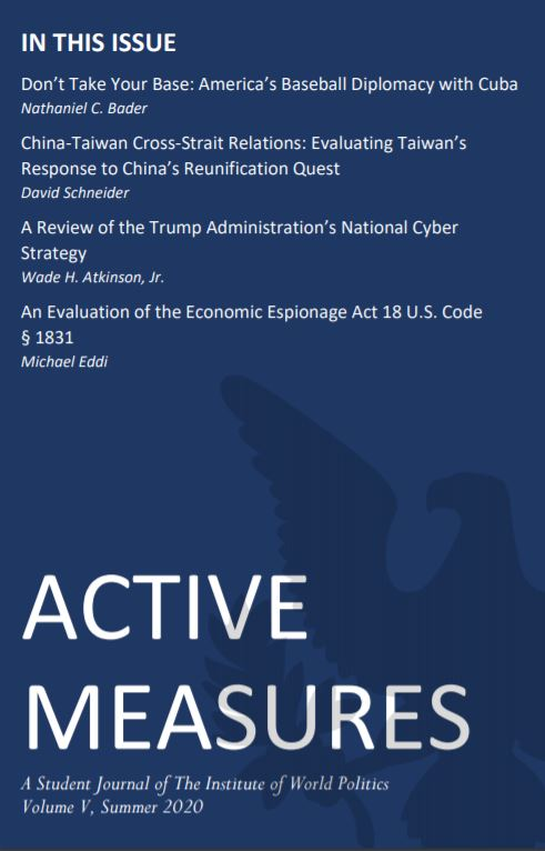 Active Measures 2020 Cover