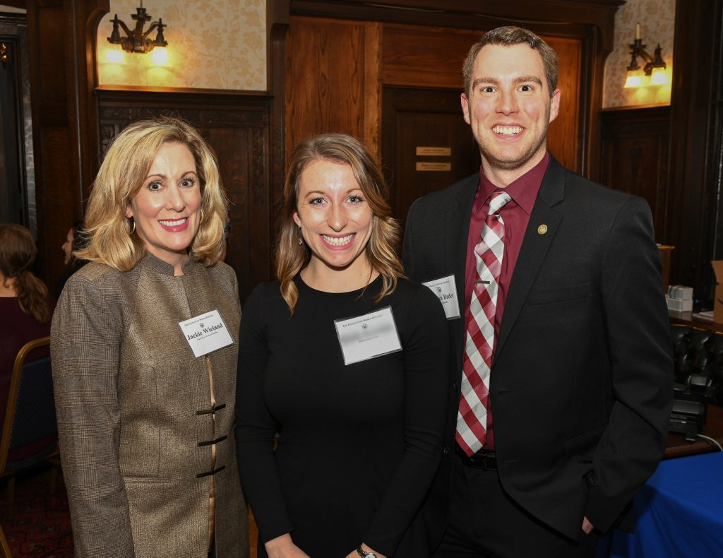 Jackie Wieland with two IWP students