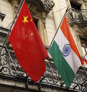 Flags of China and India