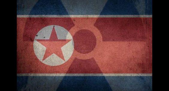 NK flag nuclear symbol