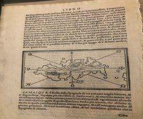 Bordone's 1528 woodcutting of Hispaniola