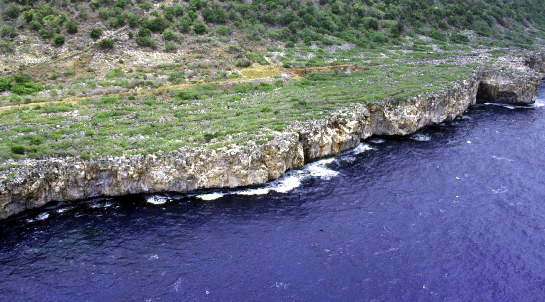 Coast of Navassa Island, photo by U.S. Geological Survey