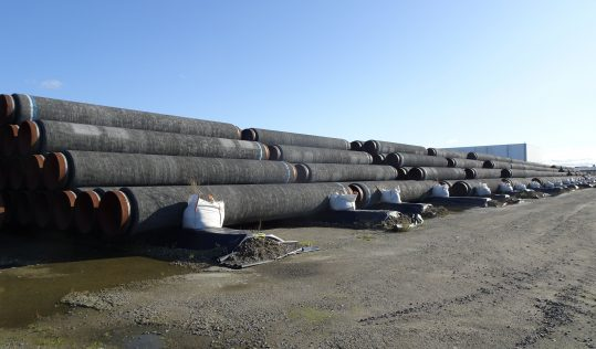 Pipes for Nord Stream 2, Photo by Gerd Fahrenhorst