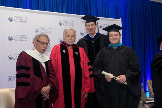 Jarrod McDowell at Commencement in 2017