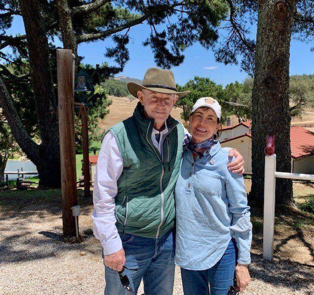 John and Cynthia Lovewell at the Reagan Ranch