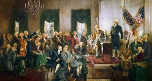 Usa Signing Painting Contract America Constitution