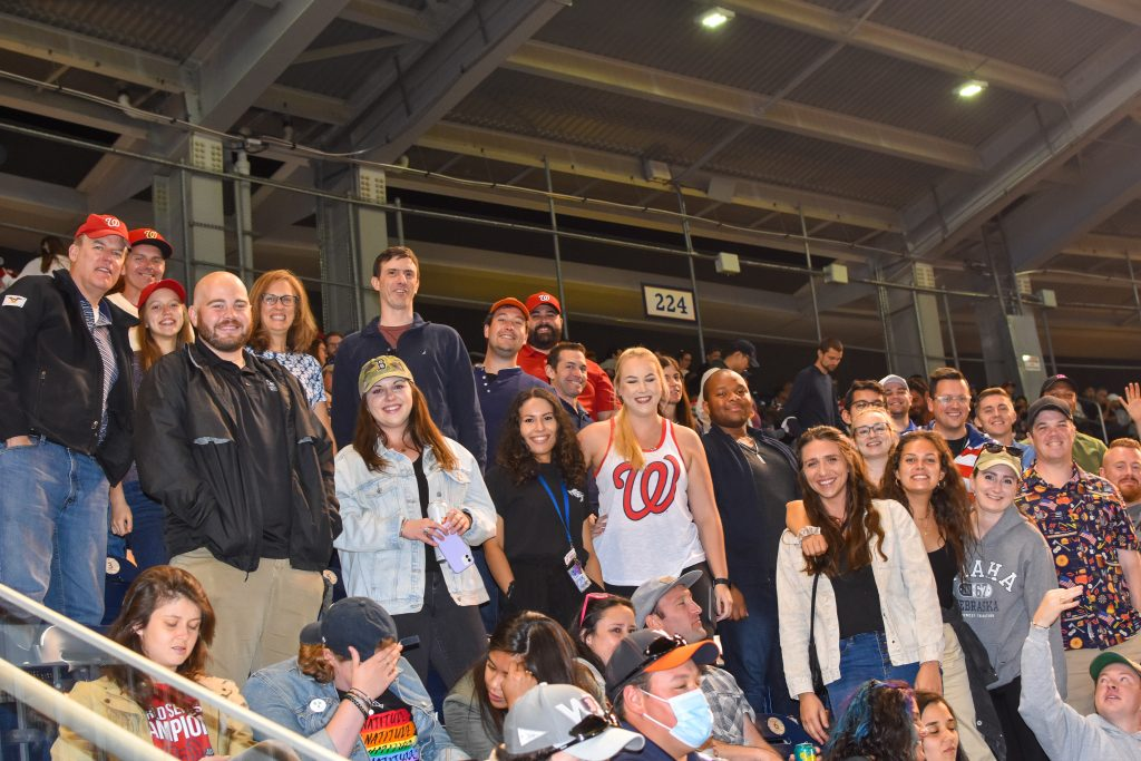 IWP Students and Alumni at Nationals Game