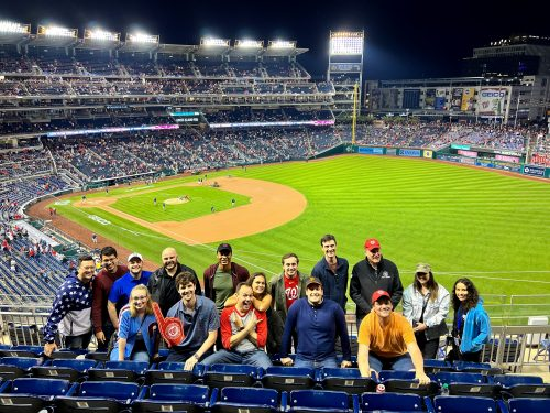 IWP Students at Nationals Game